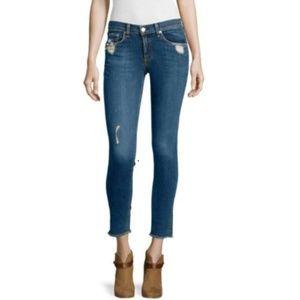 rag & bone Destroyed Skinny Jeans La Paz Raw Hem